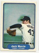Buy 1982 FLEER JACK MORRIS BASEBALL CARD #274 Detoit Tigers TOPPS