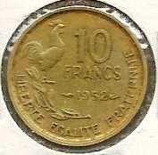 Buy France 10 Francs 1952 VG