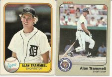 Buy 1981 FLEER ALAN TRAMMELL BASEBALL CARD #461 and 1983 FLEER ALAN TRAMMELL BASEBAL