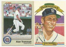 Buy 1982 DONRUSS DIAMOND KINGS #5 ALAN TRAMMELL and 1983 FLEER ALAN TRAMMELL BASEBAL