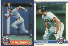 Buy 1984 FLEER ALAN TRAMMELL CARD #91 and 1986 FLEER ALAN TRAMMELL #241