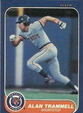 Buy 1986 FLEER ALAN TRAMMELL #241