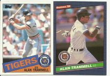 Buy 1985 Topps #690 Alan Trammell Tigers and 1986 Leaf #101 Alan Trammell Tigers