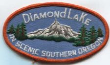 Buy 1980's Diamond Lake Souvenir Embroidered Patch Scenic Southern Oregon