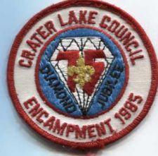 Buy 1985 Crater Lake Council Boy Scouts Oregon 75th Diamond Jubilee Encampment 1985