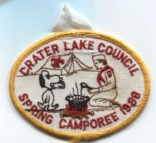 Buy 1988 Crater Lake Council Boy Scouts Oregon Spring Camporee Snoopy Patch BSA