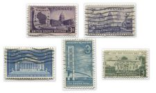 Buy 1940's+50's 3 Cent Stamps Lightly Cancelled Buildings, States and a Bridge!