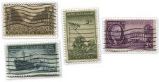 Buy 1940's+50's 3 Cent Stamps Cancelled WWII Iwo Jima, Merchant Marines, Roosevelt