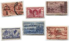 Buy 1940's+50's 3 Cent Stamps Lightly Cancelled Famous People, Places, Pony Express