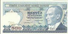 Buy 1970 Turkey 500 Lira Note