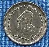 Buy Switzerland 1/2 Franc 1969 - Standing Helvetia with lance and shield
