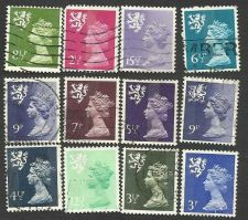 Buy Great Britain Scotland Regional Issues 12 stamps Scottish Lion