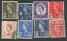 Buy Great Britain postage revenue 8 stamps George VI, Queen Elizabeth