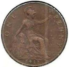 Buy 1911 Great Britain Copper Penny