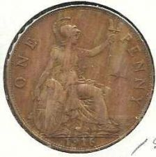Buy 1916 Great Britain Copper Penny