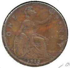 Buy 1915 Great Britain Copper Penny