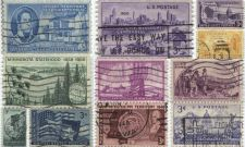Buy 1950's 3c State Centennial Used Stamps Lot 11 good used cancelled nice BUY NOW!
