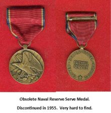 Buy ORIGINAL FIRST DESIGN NAVAL RESERVE SERVICE MEDAL WITH A DISPLAY CASE.