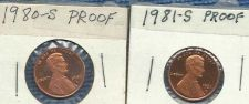 Buy 1980 S and 1981 S US Lincoln Head Proof Pennies