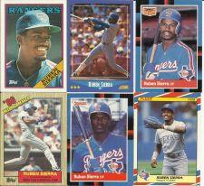 Buy Reuben Sierra Texas Rangers Tribute Lot of 6 Trading Cards