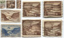Buy 1946 5c, 6c, 15c Canal Zone Gaillard Cut Globe Wing Postage 11 Stamps Used
