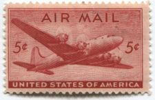 Buy 1946 5c DC-4 Skymaster Red Air Mail Good Unused Condition Collectible