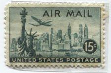 Buy 1947 15 Cents Lockheed Constellation Plane Air Mail New York Skyline Unused
