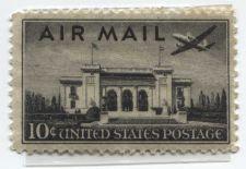 Buy 1946 10c Pan-American Building AirMail US Postage Plane Flying Over Unused