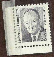Buy US 52c Hubert Humphrey unused 52 cent postal value