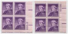 Buy 1958 50c Susan B. Anthony Plate Block Dry Print Liberty Series Never Hinged Pair