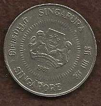 Buy Singapore 50 Cents 1987 Flower Coin Reeded Rim