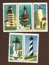 Buy Scott's 2470-2474 Block of Five (5) Lighthouse Multicolored