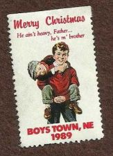 Buy 1989 BOYS TOWN NEBRASKA Stamp Merry Christmas