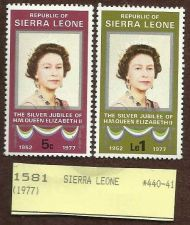 Buy SIERRA LEONE 1977 ANNIVERSARY OF THE REIGN OF ELIZABETH II. SC# 440-41 MNH 0040
