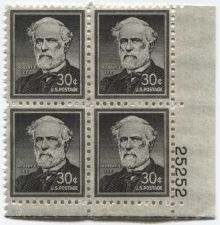 Buy 1957 30c Robert E. Lee Quad Mint Never Hinged Plate Block Excellent Condition