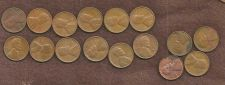 Buy US Wheat Lot 4 of 12 coins 1940-1958 No Duplicates +4