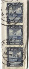 Buy 1951 Cancelled 6 As Pakistan Stamps 3 Vertically Attached On-Piece Karachi
