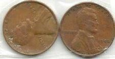 Buy US Wheat Set of Two (2) 1945 Pennies - WWII Era Currency!