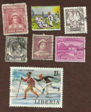 Buy Stamp Lot 6 Malaya Newfoundland Venezuela Poland Pakistan Liberia