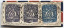 Buy Correio De Portugal 3$50, $15 Blue Ship Stamp Martins Barata Cancelled On piece