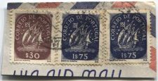 Buy Correio De Portugal 1$75, $30 Blue Ship Stamp Martins Barata Cancelled On piece