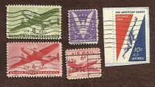Buy US Airmail Stamp Lot USED (5 Stamps)