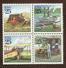 Buy 20th Annual Postal Congress Block of 4 1988
