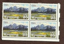 Buy Wyoming block of 4 (Scott 2444) 25c