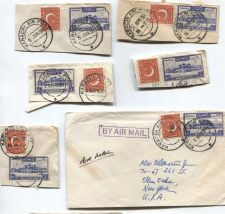 Buy 1951 Cancelled 1R + 2 As Pakistan Stamps Set of On Piece Corners 1 Envelope