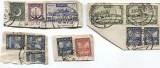 Buy 1951 Cancelled 1R, 1.5A, 2A, 3A, 6A, 6P Pakistan Stamps Set of On Piece Corners