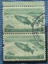 Buy U.S. #1079 3c WILDLIFE CONSERVATION hinged pair Used