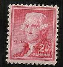 Buy US Jefferson 2c 1954-61 Sc# 1033