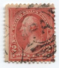 Buy 1894 Washington 2 cents Stamp Lines thru Upper Triangle Decorations Used