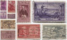 Buy 1940's+50's 3 Cent Stamps Lightly Cancelled Wars Set 10 Unique Good Franklin